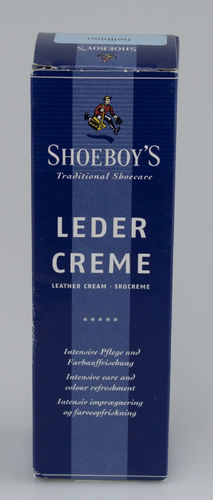 Shoeboys 9076 LEDER CREME Tube hellblau 75 ml