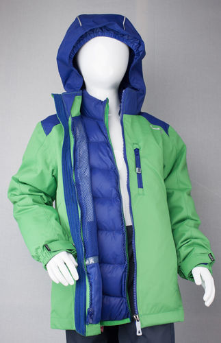 Kamik Wear Systemjacke 3in1 CHASE DOWN green/brilliant blue