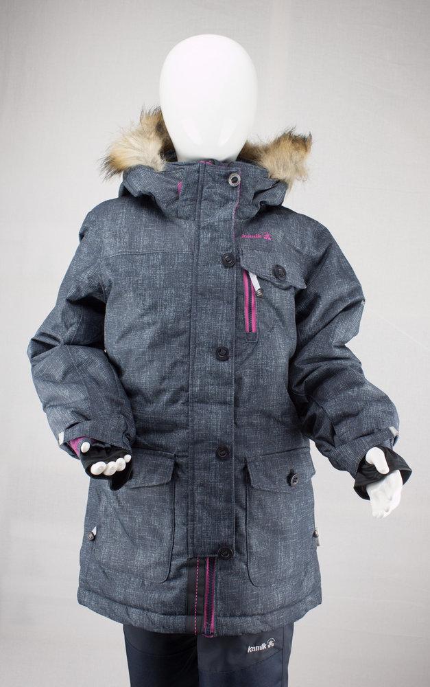 12ea31794a Kamik Wear winter jacket CECILIA navy super hero pink