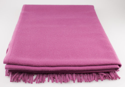 Steinbeck RIVA Wolldecke 80% Lambswool 20% Cashmere magnolia 130/190