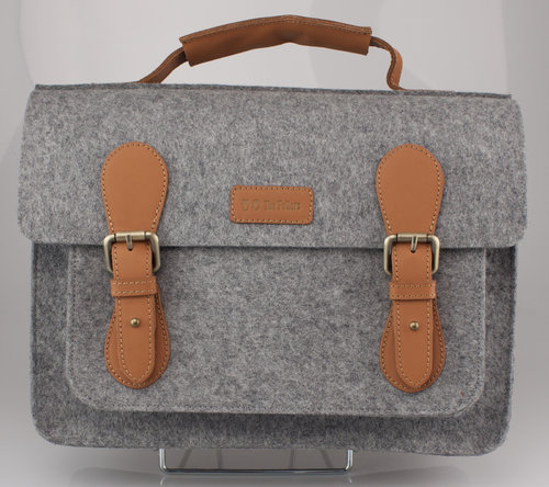 The Felters 00382 THE BUSINESS Schultertasche grey