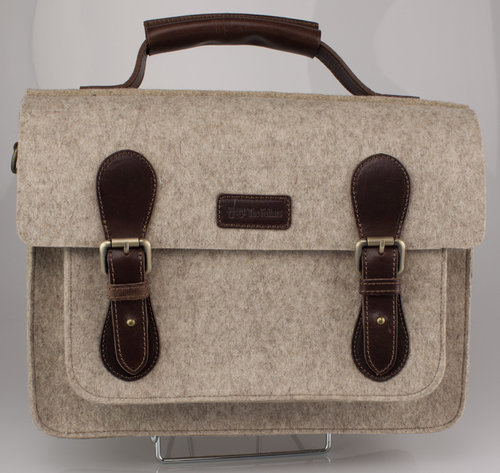 The Felters 00382 THE BUSINESS Schultertasche light brown