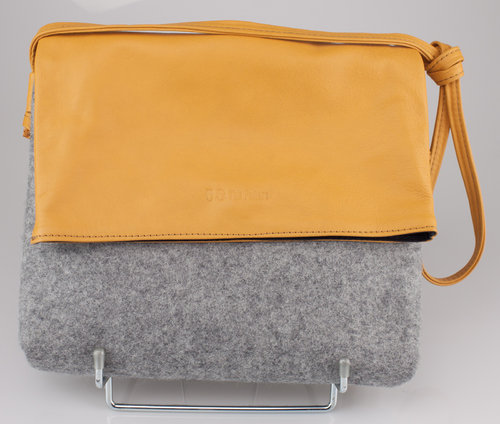 The Felters 00381 THE FOLD BAG Schultertasche grey/yellow