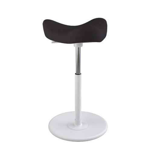 Varier MOVE Hocker Revive 194 black, wood white, gaslift white medium