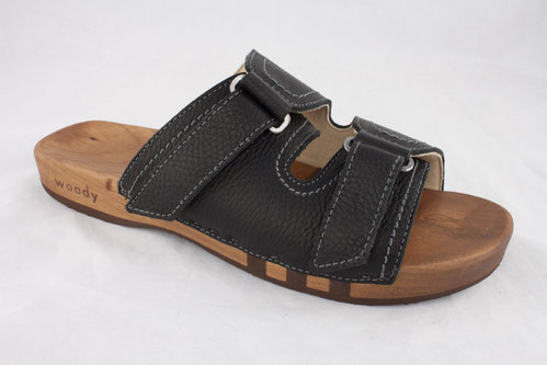Woody 10914 ROMAN Slipper schwarz