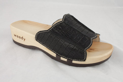 Woody 303 ANNA Slipper nero