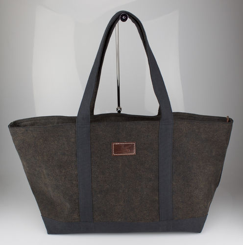 SHOPPER Lindwurm Tasche Canvas coffee