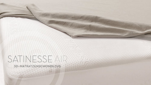 Bella Donna 025-05-0114 SATINESSE AIR Spannbetttuch 90/200 wollweiss