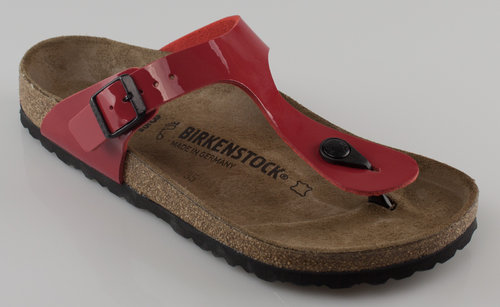 Birkenstock 743191 GIZEH normal Slipper BF Lack red