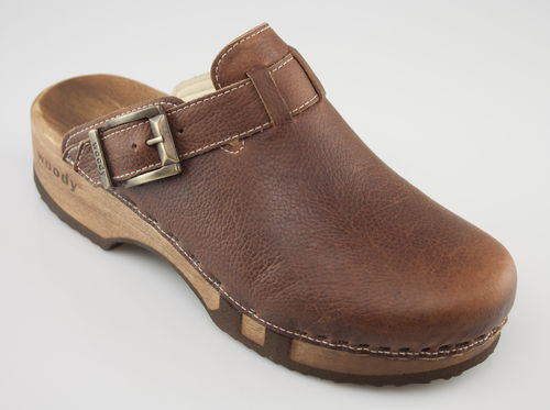 Woody LEON Clogs cognac
