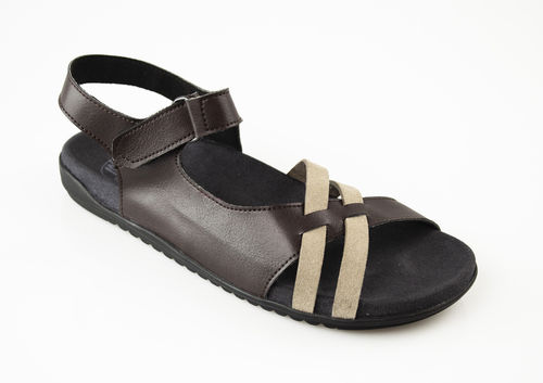 Loints 65986-2365 SWING Sandalen Leder dark brown/taupe