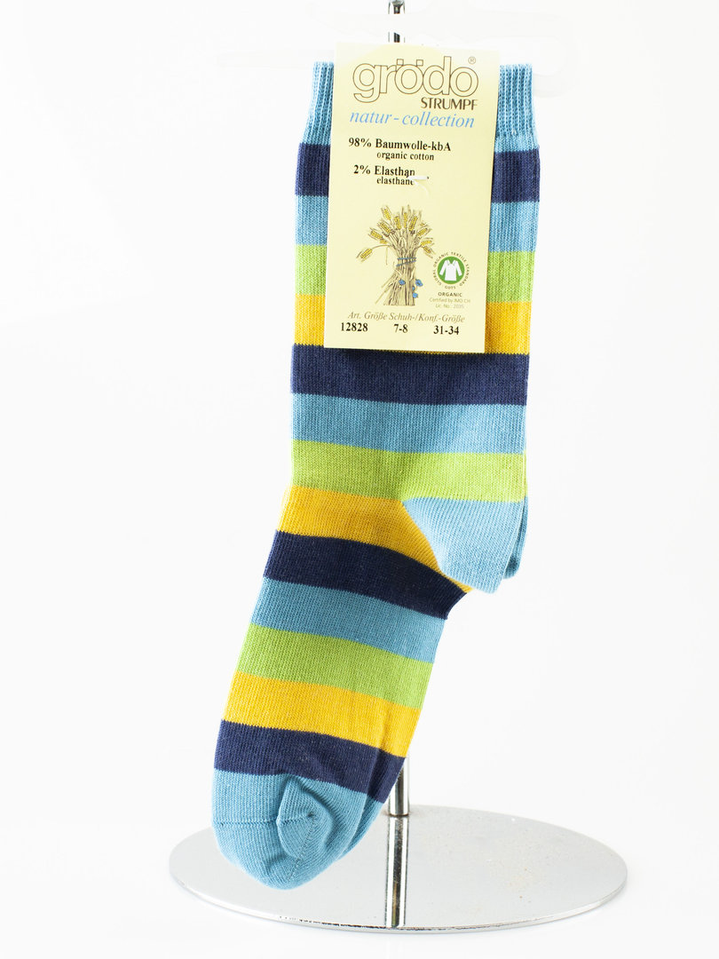Grödo 12828 ACTION kids socks cotton organic carribean mix