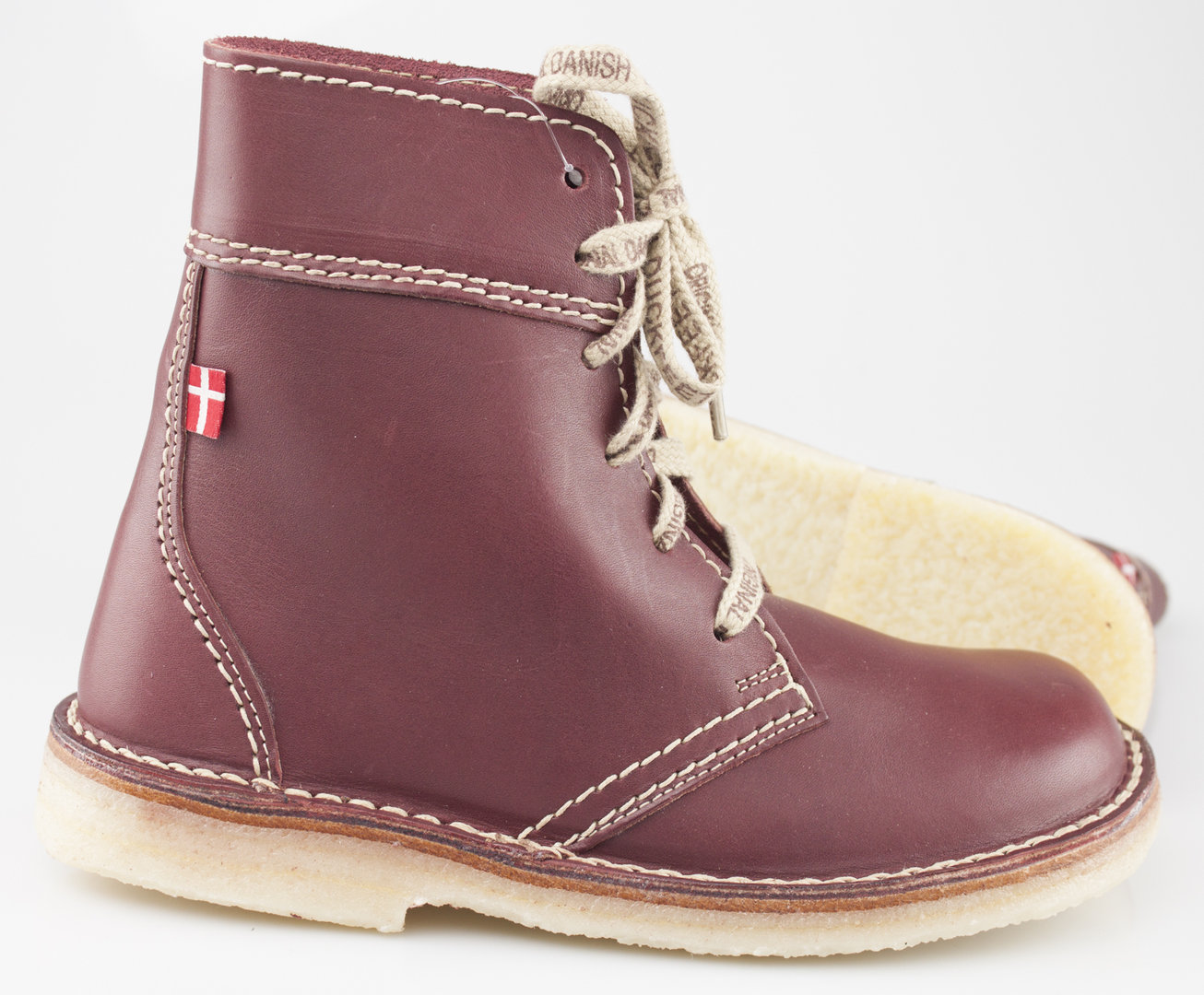 e79ba0a549c Duckfeet FABORG laced high boots bordo