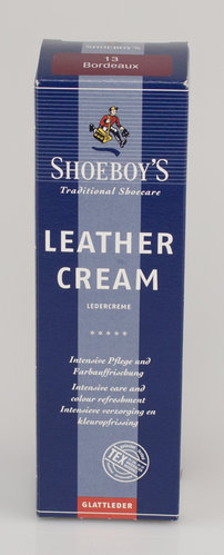 Shoeboys 9076 LEDER CREME Tube bordeaux 75 ml