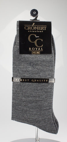 Crönert 25660-2475 CC ROYAL Herrensocken feine Wolle m.grau