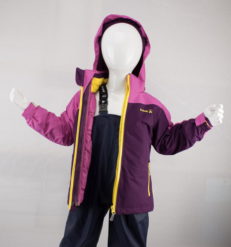 Kamik Wear Systemjacke 3in1 DANA DOWN dark purple