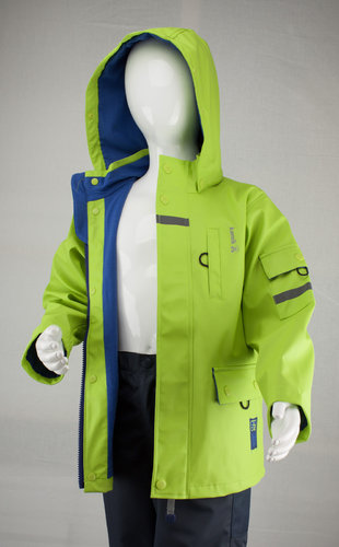 Kamik Wear PU Regenjacke RESCUE TEAM lime green