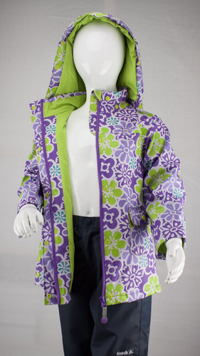 Kamik Wear PU Regenjacke DITSY FLOWER dewberry aop