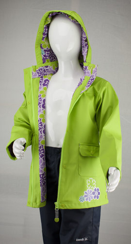 Kamik Wear PU Regenjacke DITSY FLOWER lime green