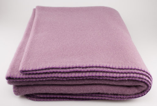Steinbeck INN Wolldecke 100% Virgin Wool mauve 150/200