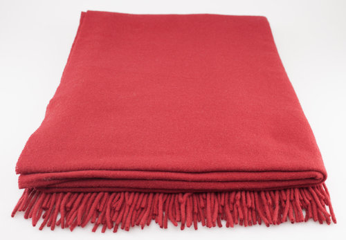 Steinbeck RIVA Wolldecke 80% Lambswool 20% Cashmere rot 130/190
