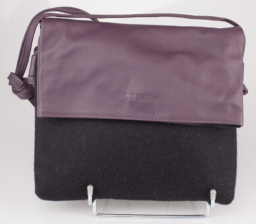 The Felters 00381 THE FOLD BAG Schultertasche black/purple