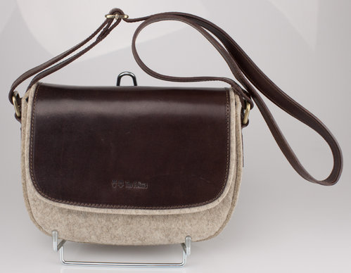 The Felters 00380 CROSSBODY CLASSIC Schultertasche light brown