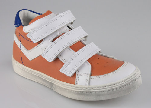 Ubik 7793-1 DUTCH Klettschuhe Mid branco/orange