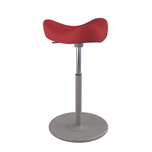 Varier MOVE Hocker Revive 624 light red, wood grey, gaslift grey medium