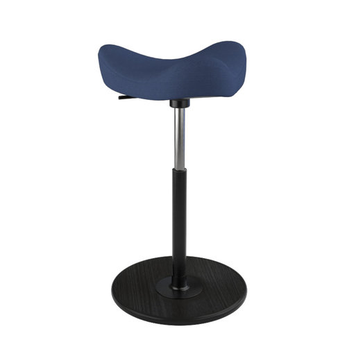 Varier MOVE Hocker Revive 774 dark blue, wood black, gaslift black medium