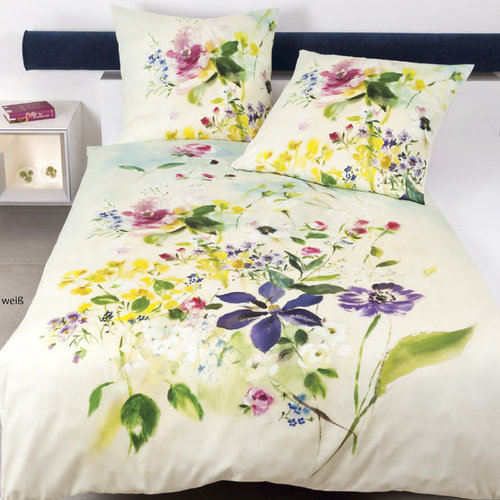 Janine 42028-09 MODERN ART SUMMER FLOWER Bettwäsche Set Mako-Satin multicolor 135/200