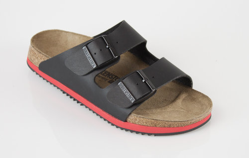 Birkenstock 230116 ARIZONA schmal Slipper Birkoflor black/red
