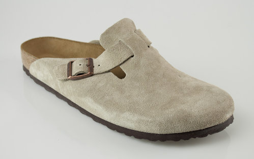Birkenstock 60463 BOSTON schmal Slipper velour taupe
