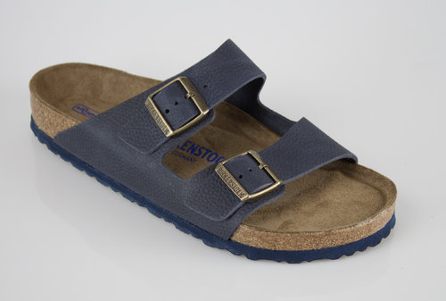 Birkenstock 1008925 ARIZONA normal SFB Slipper nubuk steer indigo