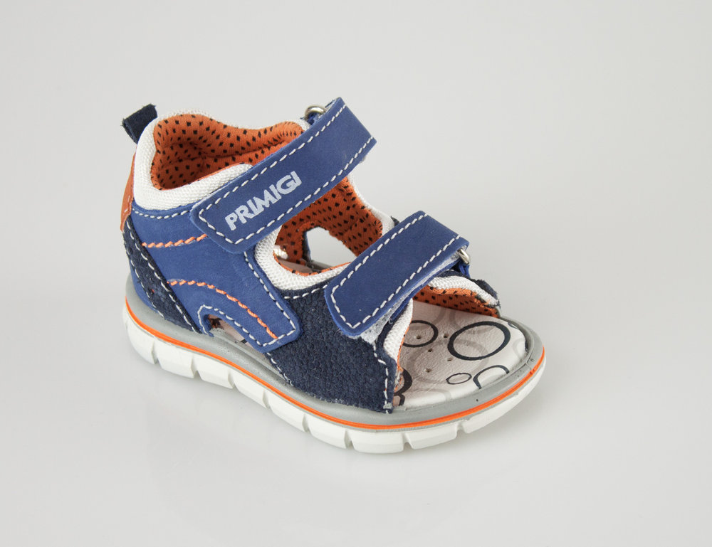 ranura Marcha mala monigote de nieve  Primigi 7563000 GIOVANNI sandals blue/orange