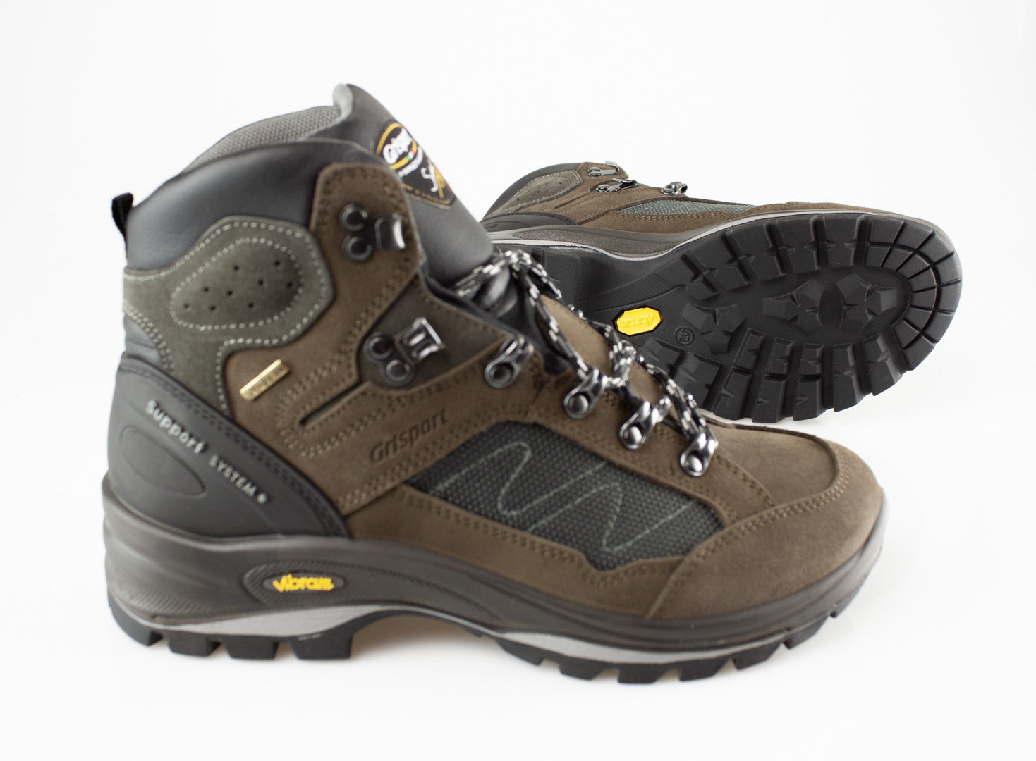 3ea965f36b9 Grisport 12835 EVEREST MID laced boot WP velours brown