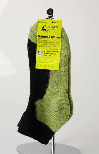 Hirsch Sports 045-054 SPORT SNEAKERSOCKEN Merino lime