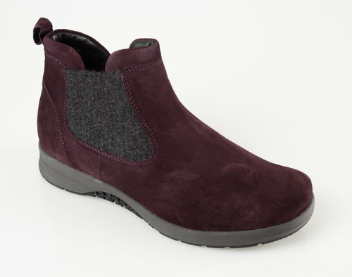 Ganter 207822-4200 GLORIA Chelseaboot velour vino