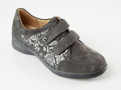 Ganter Sensitiv 208023-6300 KATJA Klettschuhe Velour/Flower graphit