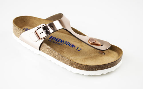 Birkenstock 1005048 GIZEH SFB Zehengreifslipper normal BF metallic copper