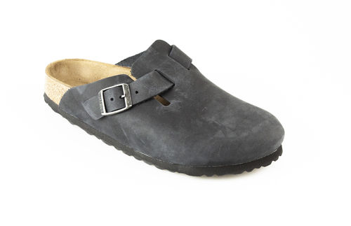 Birkenstock 59463 BOSTON Slipper Fettleder schwarz