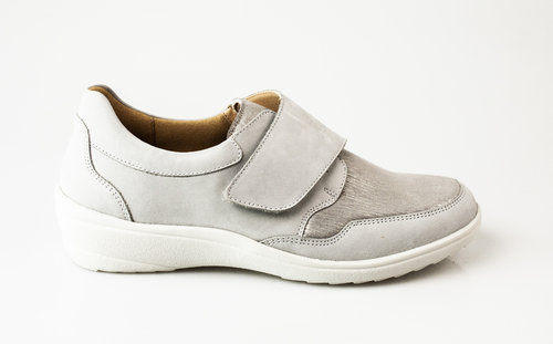Ganter Sensitiv 208886-6760 HELGA Klettschuhe Softnubuk mit Stretch lightgrey