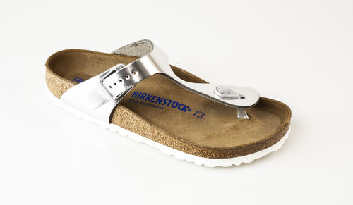 Birkenstock 1003674 GIZEH NL WB Zehengreifer normal metallic silver
