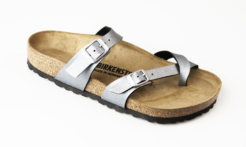 Birkenstock 1016006 MAYARI BF Zehengreifer normal icy metallic anthracite