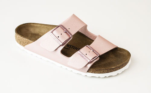 Birkenstock 1016029 ARIZONA BF Slippers schmal icy metallic old rose