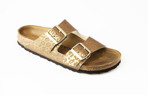 Birkenstock 1016775 ARIZONA BF Slippers schmal leopard gold
