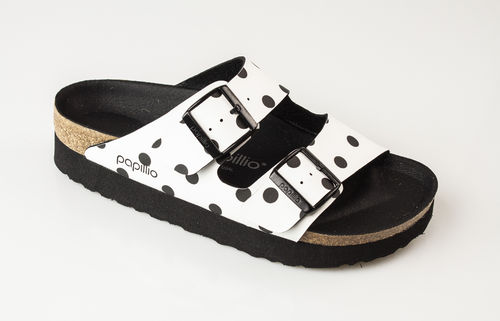 Papillio 1015878 ARIZONA BF DD Slippers schmal white black dots