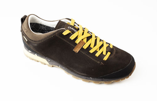 AKU 504.3-305 BELLAMONT 3 SUEDE GT Schnürschuhe velour dark brown/yellow