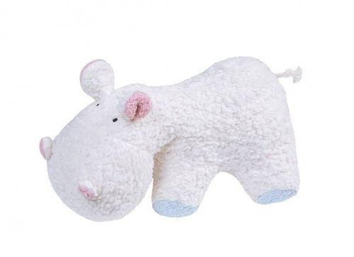 Efie 88479 HIPPO cuddly toy cherry stone rose/light blue