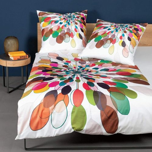 Janine 42065-09 MODERN ART Bettwäsche Mako-Satin multicolor 135/200